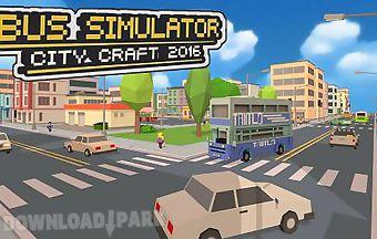 Bus simulator: city craft 2016