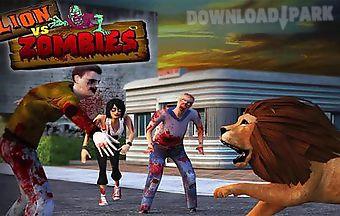 Lion vs zombies