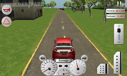 modern car driver 3d