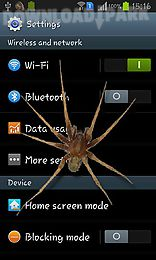 spider in phone