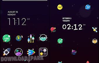 Colorspace line launcher theme