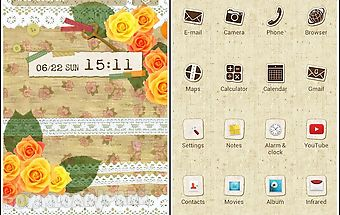 Cute theme-orange love-