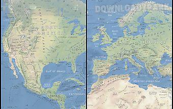 World map atlas 2016 android aplicacin gratis descargar apk world map offline physical gumiabroncs Gallery