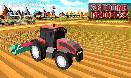 blocky plow farming harvester 2