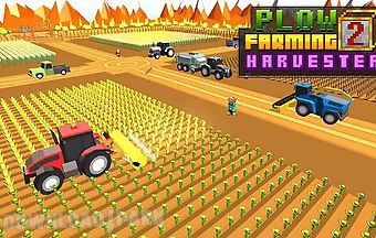 Blocky plow farming harvester 2