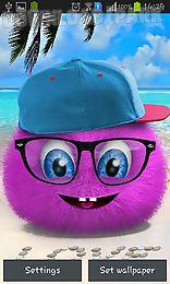 pink fluffy ball