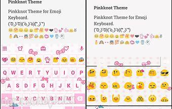 Pink knot emoji keyboard theme