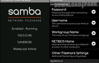 Samba filesharing for android