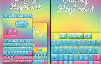 Bubbly go keyboard theme