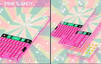 Pink candy go keyboard