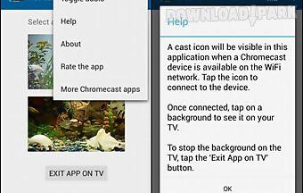 Fish tank on tv via chromecast n..