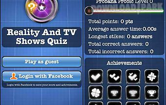 Reality and tv shows quiz free
