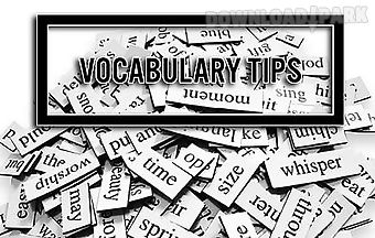 Vocabulary tips