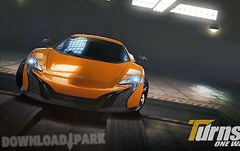 Turns one way: racing