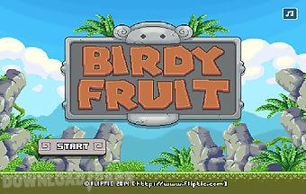 Birds eat fruit