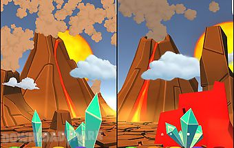 Cartoon volcano 3d