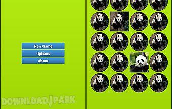 Panda bear memory game
