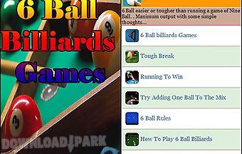 6 ball billiards games