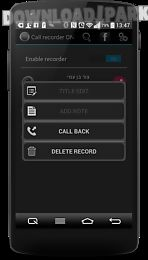 call recorder one touch