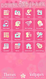 cute theme-flowers and circles