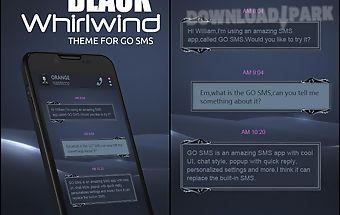 Go sms black whirlwind theme