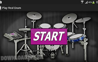 Play real drum