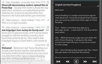 Voice reading (read aloud)