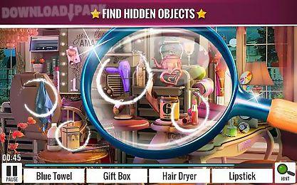 hidden objects: beauty salon