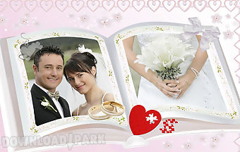 Lovely wedding photo frames