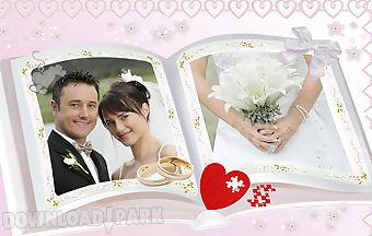 Lovely wedding photo frames