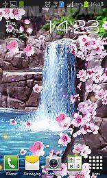sakura: waterfall