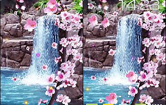 Sakura: waterfall