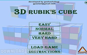 3d rubiks cube android