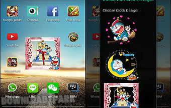 Doraemon android clock widget