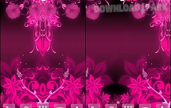 Go launcher theme pink flowers