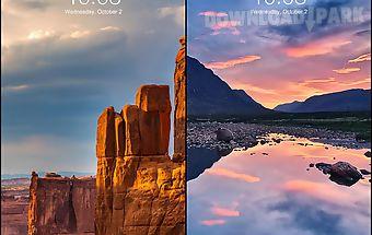 Lock screen nature wallpaper