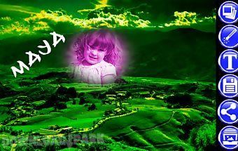 Green hill photo frames