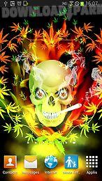 skull smoke weed parallax lwp