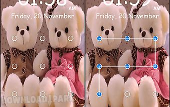 Teddy bear pattern lock screen